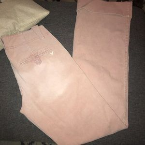 American eagle corduroy light pink bell bottoms